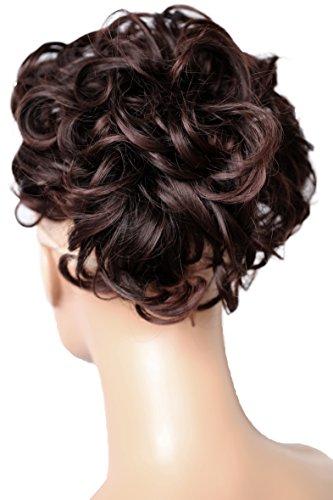 PRETTYSHOP Dutt Haarteil Zopf Haarknoten Hepburn-Dutt Haargummi Hochsteckfrisuren dunkelbraun mix #2T33 HK108