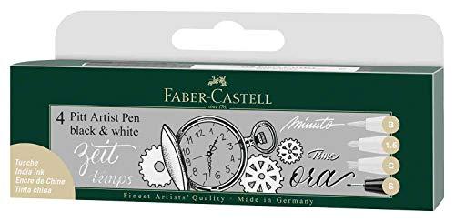 Tuschestift Pitt Artist Pen Black and White, 4er Set