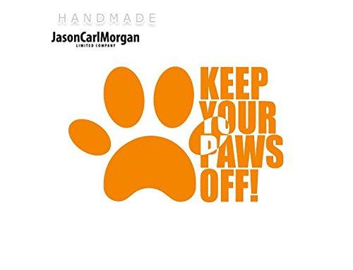 JCM ¨ Eisen auf Transfer Aufkleber, Hunde Pfoten Neon Orange (Patch Hund Orange)