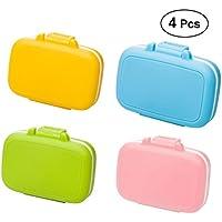 SUPVOX 4PCS Taschen-Pillen-Kasten-wasserdichter Plastikkasten mit 3 entfernbaren Fächern preisvergleich bei billige-tabletten.eu