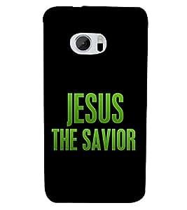 Fiobs Designer Phone Back Case Cover HTC 10 :: HTC One M10 ( Jesus The Savior )