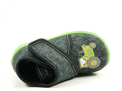 Rohde 2103 Kiddie Baby Schuhe Kinder Hausschuhe Jungen Grau