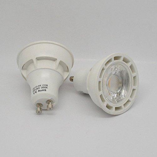 Klar, Bulb Cover (JnDee LED-Leuchte, GU10, COB, zum Ersetzen von 50 W-Halogenlampen, 400 Lumen, 60 Grad Leuchtwinkel, klares Glas, warmes Weiß)
