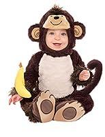 Questo costume da scimmia per bambino comprende una tuta, un passamontagna e un sonaglio.La scimmia outfit ha velcro sul retro in modo che possa essere facilmente chiuso.Sarà ideale per il vostro figlio o figlia da indossare a una festa in co...