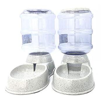 1Sconto Automatique Pet Feeder Potable Fontaine Chat Chien en Plastique Alimentaire Bol Animaux Distributeur d'eau (Machine d'alimentation)