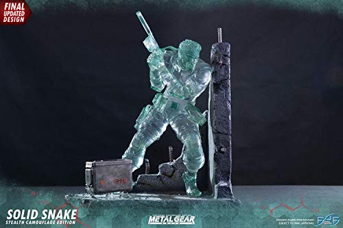 First 4 Figure Statua Metal Gear Solid Snake 44 cm Stealth Camouflage  Signature Edition #1