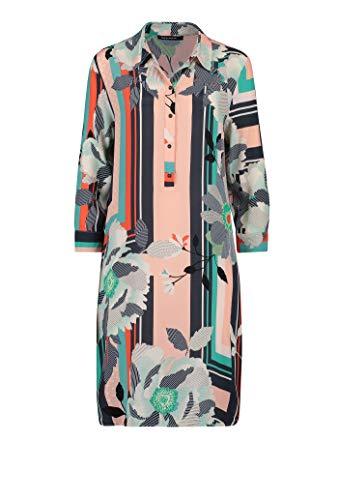 Expresso Denver Damen grünes Tunika-Kleid mit Print und Einer Länge bis knapp zum Knie,Mehrfarbig,36