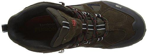 Karrimor Toledo Weathertite, Uomini Trekking E Scarpe Da Passeggio Multicolore (nero / Rosso)