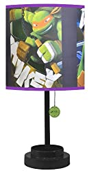 Nickelodeon TMNT Table Lamp with Die Cut Lamp Shade with CFL Bulb