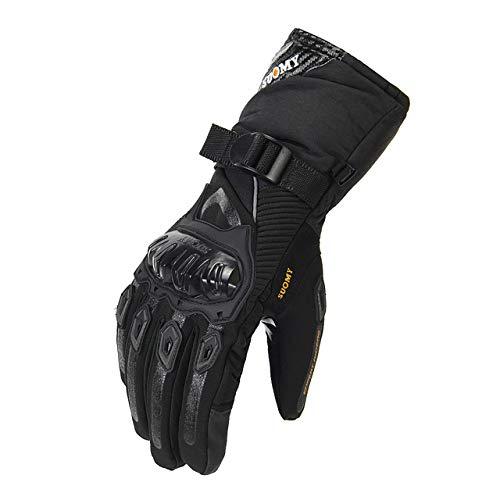 MYSdd Guanti da moto guanti da moto invernali antivento impermeabili da uomo guanti da guida per moto touch screen M