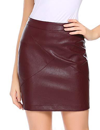 Parabler - Falda de Piel clásica para Mujer