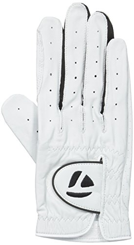 TaylorMade 2013 Mens Tour Targa Leather Golf Glove - White - LH - S