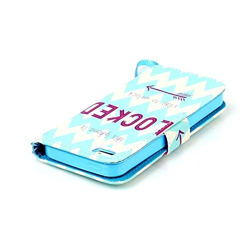iPhone SE Case,iPhone 5s Hülle, Ekakashop Apple iPhone SE / 5S / 5 Schlank Vollkörper Blau Dreamcatcher Himmel Muster flip Buchstil Schale Tasche Magnet mit Standfunktion Kartenfächer PU Leder Wallet  Cartoon Entsperren Sie den Bildschirm