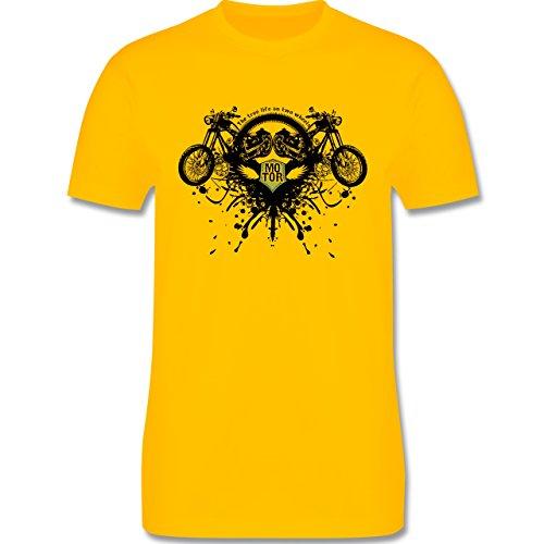 Motorräder - Biker - true life - Herren Premium T-Shirt Gelb