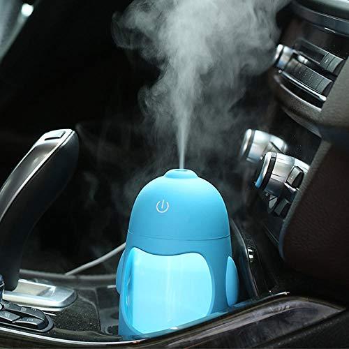Wxlyy Humidificador automático portátil Mini Penguin USB Purifier Home Air Fresher@Azul
