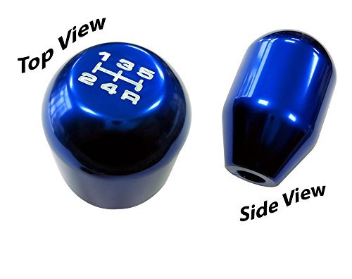 12x1.25mm Threaded 5 Speed TYPE R Type S Shift knob in BLUE Billet Aluminum (No Adapters - Threaded) m12x1.25 JDM Short Throw Manual Transmission Gear Shifter Selector for Ford Mustang Cobra Shelby GT SVT V6 V8 Focus