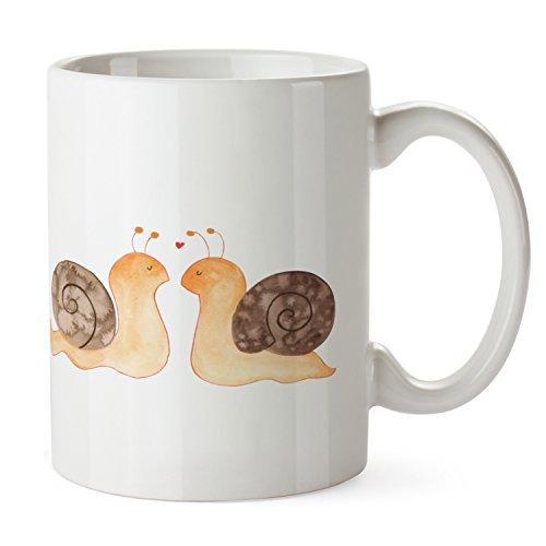 Mr. & Mrs. Panda Tasse Schnecken Liebe - 100% handmade in Norddeutschland - Tasse, Becher,...