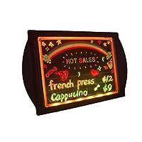 DEEDEEDA LED Message Writing Board, LED Display Sign, Illuminated Erasable Neon 7 Colors of 36 Flashing-Mode Acrylic for Shop/Cafe/Bar Advertising