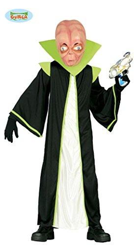 Alien Kostüm für Kinder Gr. 98-146, Größe:140/146 (Alien 1 Kostüm)