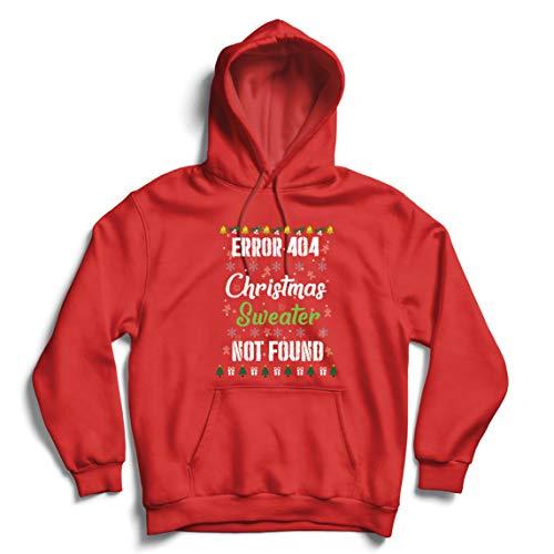 lepni.me Sudadera con Capucha Error 404 Suéter Feo de Navidad no Encontrado...