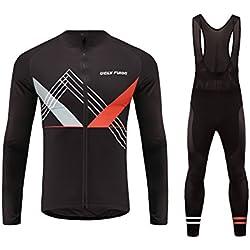 Future Sports UGLYFROG Pantalones Jersey Manga Larga Ciclismo Jersey de Bicicletas de Secado Rápido al Aire Libre + Bib Pantalones Hombres Bodies Otoño Style
