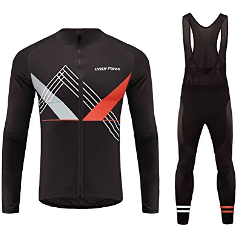 Uglyfrog #T01 2018 Ciclismo Maillot++Bib Pantalones cortos Hombre Ropa Deportes y aire libre Manga Larga Winter with Fleece Ropa De Triatlon Sets -