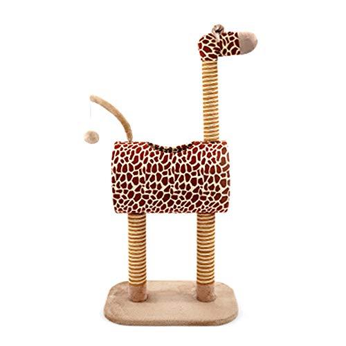 FZQ Katze Baum, Giraffe Modellierung Katze Wurf, Tunnel-Design, Zwei-Color Sisal Grab Säule, schöne Spaß, Multi-Funktions Haustier Kralle Spiel Sport Spielzeug (Modellierung Von Bäumen)