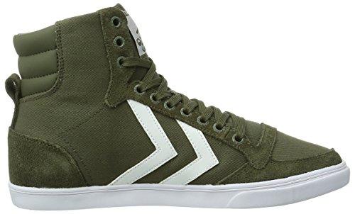 hummel SLIM STADIL CANVAS HIGH Unisex-Erwachsene Hohe Sneakers Grün (Ivy Green 6187)