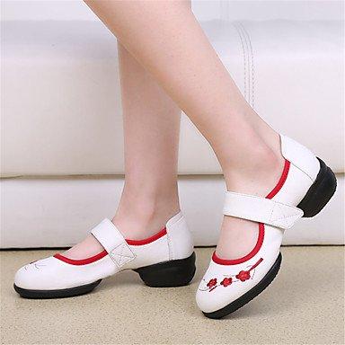 Scarpe da ballo-Non personalizzabile-Da donna-Balli latino-americani Jazz Sneakers da danza moderna Tip tap Danza moderna Scarpe da swing- White