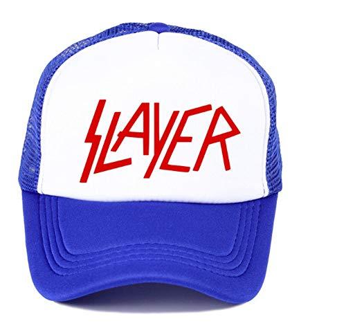 XZZZB Band Men's Baseball Caps die Slayer Speed Metal Cap Männer Sommer Hochwertige Baseball Netz Trucker Cap Dunkelblau