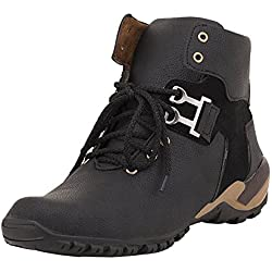 T-Rock Men's Faux Leather Boots (blck_bot_09__Black_9)