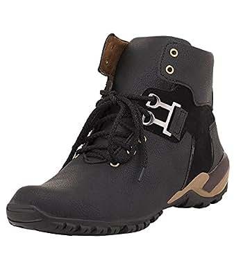 T-Rock Men's Black Boots-6 UK/India (39 EU) (Blck_bot_06)