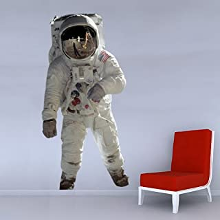 SMS11 - Large NASA astronaut cut out wall sticker. Life-like space astronaut wall decal