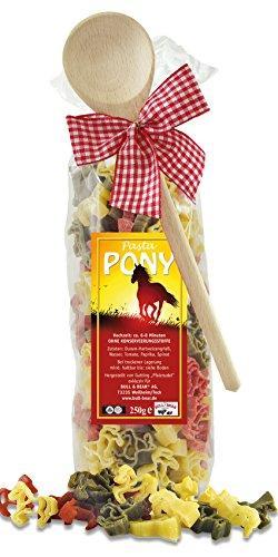 Pasta Präsent Pony mit bunten Pferde-Nudeln handgefertigt in deutscher Manufaktur