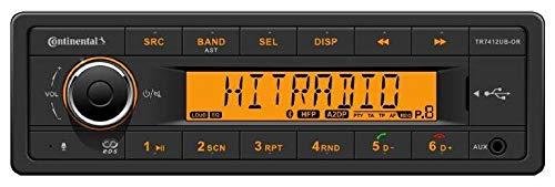 Continental TR7412UB-OR - MP3-Autoradio mit Bluetooth / USB / AUX-IN Continental-taste