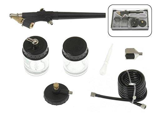 7 tlg Komplett Set Airbrush Pistole Schlauch + Adapter + Zubehör
