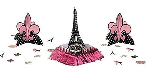 Confettery - Party Dekoration Deko Set - kultiger Paris-Look - 1 Stück, 5cm, 19cm und 37cm, Schwarz