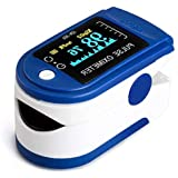 AUA Pulsioxímetro Oxímetro de Dedo Medidor Digital Profesional Portátil Oxímetro de Pulso con SPO2 oxígeno en la Sangre y Mon