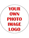 "30 x Your Own Image Photo Logo Personalised 1.5"" (3.8cm) PRE-CUT PREMIUM RICE PAPER Edible Cake Toppers"