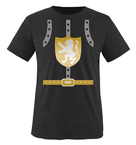 Ritter Kostüm Mond - Comedy Shirts - Ritter KOSTÜM II - Herren T-Shirt - Schwarz/Silber-Gold Gr. XXL