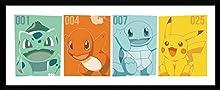 GB Eye Pokémon Kanto Partenaires Affiche encadrée, diverses, 75 x 30 cm