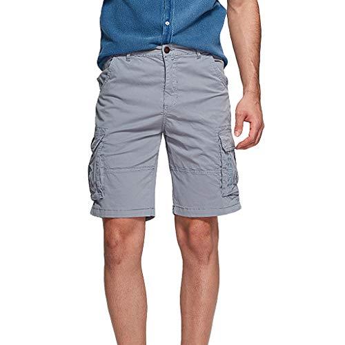 Zolimx- Bekleidung männer einfarbig draussen Bewegung Overall beiläufige Reine Farbe der männer im freien Taschen-Strand-arbeits-Hosen-fracht-Kurzschluss-hosepassform Skinny Slim fit