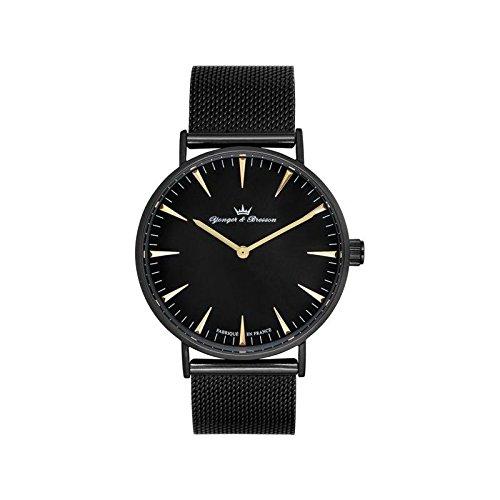 Orologio uomo Yonger & Bresson nera e dorata–HMN 075-am2
