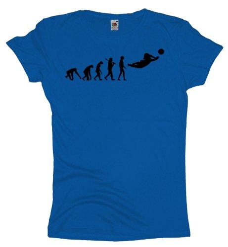 Ma2ca - Evolution - Beachvolleyball Volleyball - Damen Girlie T-Shirt -royal-xl