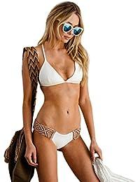 HARRYSTORE 2017 Mujeres Bandage Push-up Padded Bikini Set traje de baño de mano Crochet Braid Swimsuit