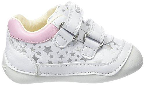 Geox Baby-Mädchen, Erste Schritte Schuhe, B Tutim C mehrfarbig (Multicolor (White / Pink))