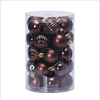 en plastique boules en plastique 100x Cadeaux de Noël arbre de Noël bronze