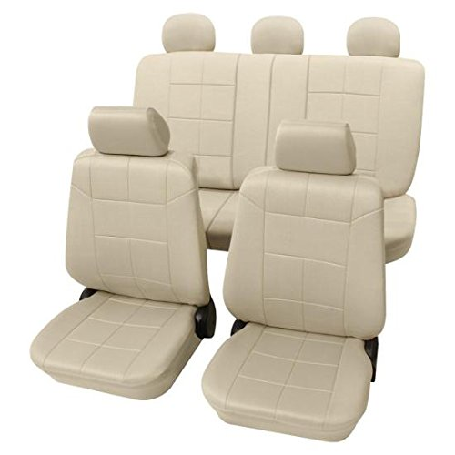 Preisvergleich Produktbild Beige Bezug Bezug AutoBezug Lederoptik Daihatsu CHARADE Mk IV 1993-2000
