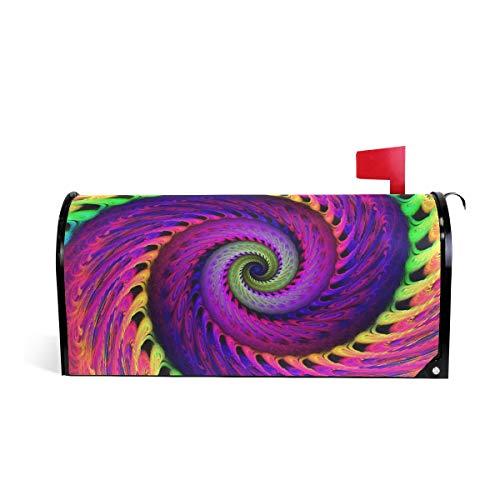 ALARGE Magnetischer Briefkasten-Abdeckung, abstrakte Kunst Swirl Tie Dye Briefkasten Wrap Home Decor Art Post Briefkasten Cover (Camo Tie Dye)