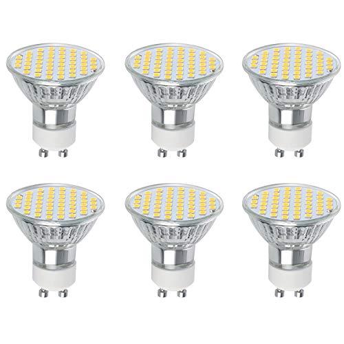 Vicloon GU10 LED Lampe, GU10 Leuchtmittel 3W, 300 Lumen, 2700 Kelvin, AC220-240V, Warmweiß GU10 Ersetzt 30W Halogenlampen, 120°Strahlwinkel Nicht Dimmbar GU10 Glühbirne, 6er-Pack